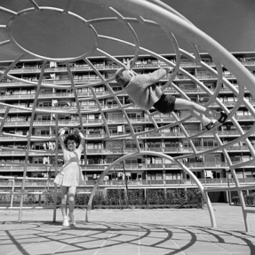 In a playground, goals and rules are flexible